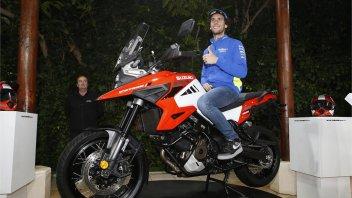 Moto - News: Alex Rins in sella alla nuova Suzuki V-Strom 1050 in Spagna