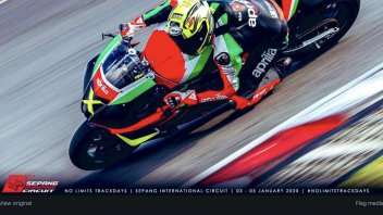 SBK: Biaggi in Sepang with the RSV-4 X, Max ready to test the RS 660