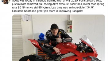 SBK: Domenicali takes the times at Redding on the Ducati Panigale V4