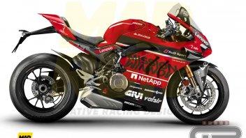 Moto - News: Ducati Panigale V4: ecco come sarebbe nei colori MotoGP Mission Winnow
