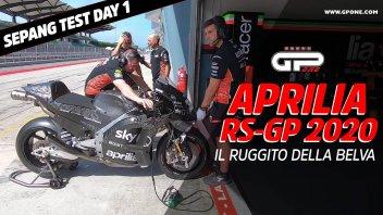 MotoGP: ESCLUSIVO, Test Sepang: I primi ruggiti della Aprilia RS-GP 2020
