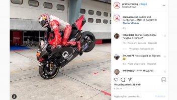 MotoGP: Jack Miller imita Razgatlıoğlu a Sepang: due maestri negli stoppies
