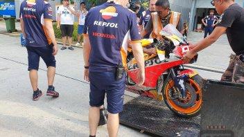 MotoGP: Marc Marquez, first crash during day 2 Sepang test