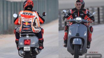 MotoGP: Marquez crashes on his Honda and is saved by a Vespa…