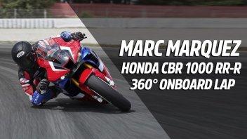 Moto - News: Marc Marquez in sella alla Honda CBR 1000 RR-R: un video 360 da urlo