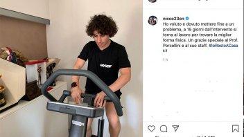 Moto3: Antonelli torna in sella (della cyclette) dopo l'operazione
