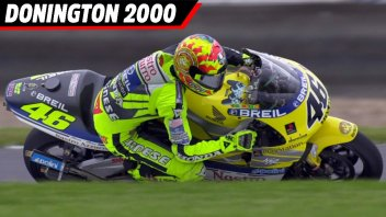 MotoGP: VIDEO, Donington 2000: Valentino Rossi's first triumph in the 500
