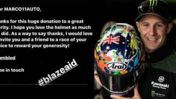 SBK: Jonathan Rea collects over 17,000 euros with the charity helmet auction