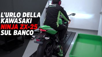Moto - News: La Kawasaki ZX-25R urla al banco: regimi stellari per la mini Ninja