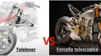 Moto - News: TECNICA – Telelever VS forcella telescopica, su strada ed in pista