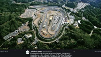 MotoGP: Twin Ring Motegi chiude tutte le sue strutture a partire dal 10 aprile