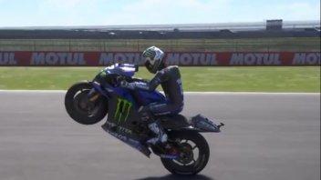 MotoGP: L'impennata perfetta di Vinales in Argentina, con tanto di stoppie