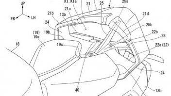 "Moto - News: Honda brevetta un codone con aerodinamica ""spinta"""