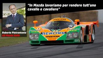 Auto - News: Mazda: ecco perché a Goodwood Rossi ha voluto guidare la 787B 'Le Mans'