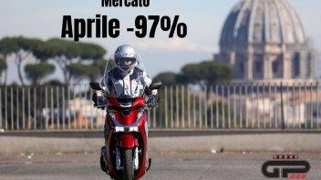 Moto - News: Mercato, immatricolazioni a -97% ad aprile, ora serve ripartire