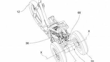 Moto - News: Piaggio: l'MP3 diventa un MP4? Brevetto per la doppia ruota posteriore