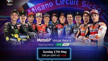 MotoGP: Rossi-Marquez: la Virtual Race di Misano in tv su Sky e live su GPOne