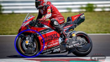 MotoGP: MISANO TEST - The (red) devil is in the details: Ducati covers the front fork