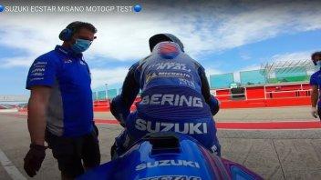 MotoGP: In sella con Guintoli a Misano con la GSX-RR durante i test MotoGP