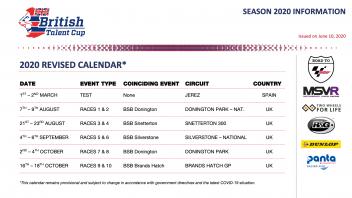 News: Annunciato il nuovo calendario provvisorio della British Talent Cup