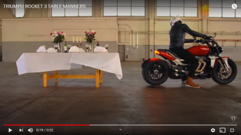 Moto - News: Triumph Rocket 3, don't let her take the tablecloth off full tables