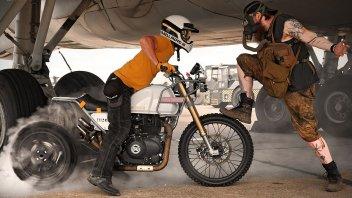 Moto - News: Royal Enfield Himalayan MJR Roach: mette il turbo Garrett GT 125