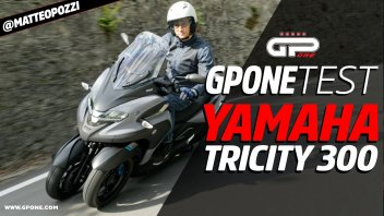 Moto - Test: Video prova Yamaha Tricity 300: lancia il guanto di sfida all'MP3!