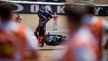 """Moto2: Marini: """"La caduta con Bezzecchi? Abbiamo fatto felici i fotografi"""""""