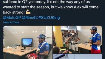MotoGP: Alex Rins non correrà a Jerez, i medici non gli hanno dato l'OK