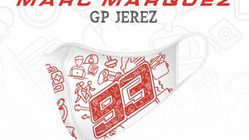 """MotoGP: """"Pushing Ahead Together"""": la mascherina di Marquez per la Croce Rossa"""