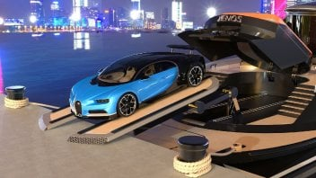 """Auto - News: Voglia di mare: yacht da 40 milioni di euro con una Bugatti """"omaggio"""""""