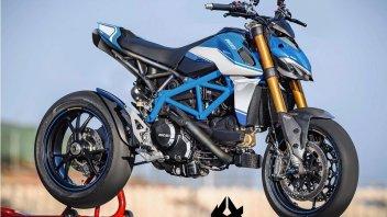 Moto - News: Krax Moto e quella Ducati a metà tra Streetfighter e Hypermotard