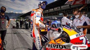 """MotoGP: A.Marquez:""""Ho visto Vinales perdere un pezzo dalla moto e lanciarsi"""""""