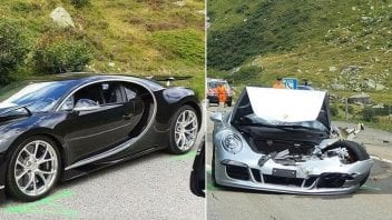 Auto - News: Incidente da 3,5 milioni di euro: coinvolte una Bugatti e una Porsche