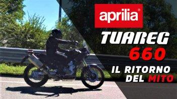 Moto - News: Aprilia Tuareg 660: i primi scatti rubati regalano sogni da Dakar