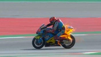 Moto2: Barcellona: Fernandez a fuoco nel WUP e Marini fa scintille sul passo gara