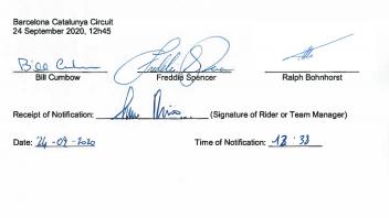 Moto3: Sky VR46-team Leopard complaint: acquittal document emerges