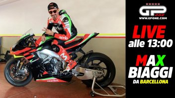 MotoGP: LIVE - Max Biaggi in diretta alle 13:00 con l'Aprilia RSV4 X da Barcellona!