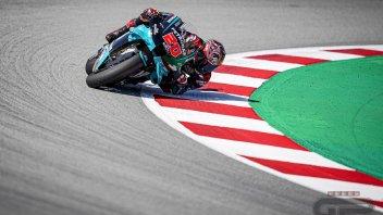 MotoGP: Quartararo domina a Barcellona, Rossi cade per batterlo. Dovizioso out subito