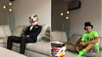 MotoGP: Fabio Quartararo disguises himself as Lewis Hamilton