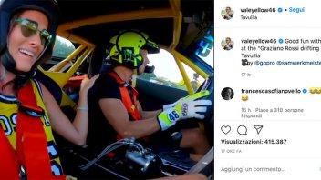 MotoGP: Valentino Rossi porta a driftare Francesca Novello: 700 cv da paura!