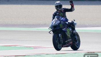 MotoGP: Vinales Top Gun a Misano: costringe all'errore Bagnaia. Rossi a terra