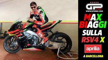 SBK: Max Biaggi mette alla frusta l'Aprilia RSV4 X a Barcellona dopo la MotoGP