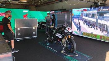 SBK: Aragon: schermi giganti e nuovo look per il team Moriwaki