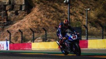 SBK: Van der Mark sveglia la Yamaha nel Warm UP di Aragon davanti a Rea