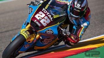 Moto2: Aragon: i polemen Lowes e Fernandez si impongono anche nel warm up