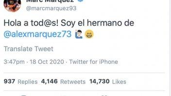 """MotoGP: Marc humor e amore fraterno: """"salve, sono il fratello di Alex Marquez"""""""