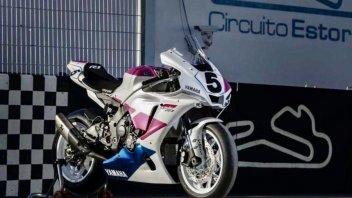 SBK: Estoril: la Yamaha ricorda Fabrizio Pirovano con una R1 replica