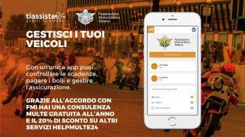 Moto - News: FMI con 'TiAssisto24' e HelpMulte24', la app per non pagare le multe