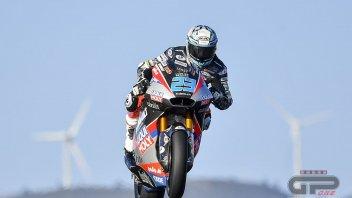 Moto2: Portimao: Schrotter 1° a sorpresa nel warm up, Bastianini è 9°